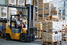 warehouse forklift rental
