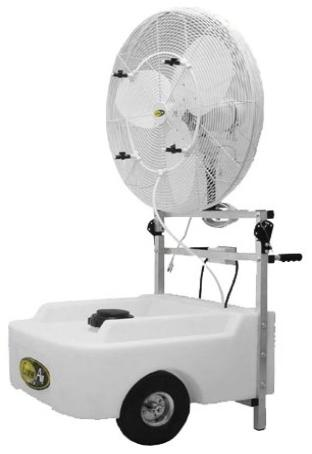 mist cooling fan rental