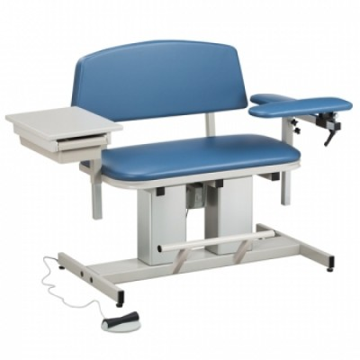Clinton Power Series 6362 Blood Draw, Extra Wide, Padded Flip Arm Drawer |  850 Lb