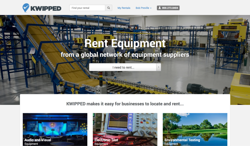 Equipment Rental And Leasing Marketplace | KWIPPED